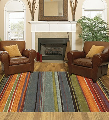Mohawk Home New Wave Rainbow Printed Rug  26X310  Multi