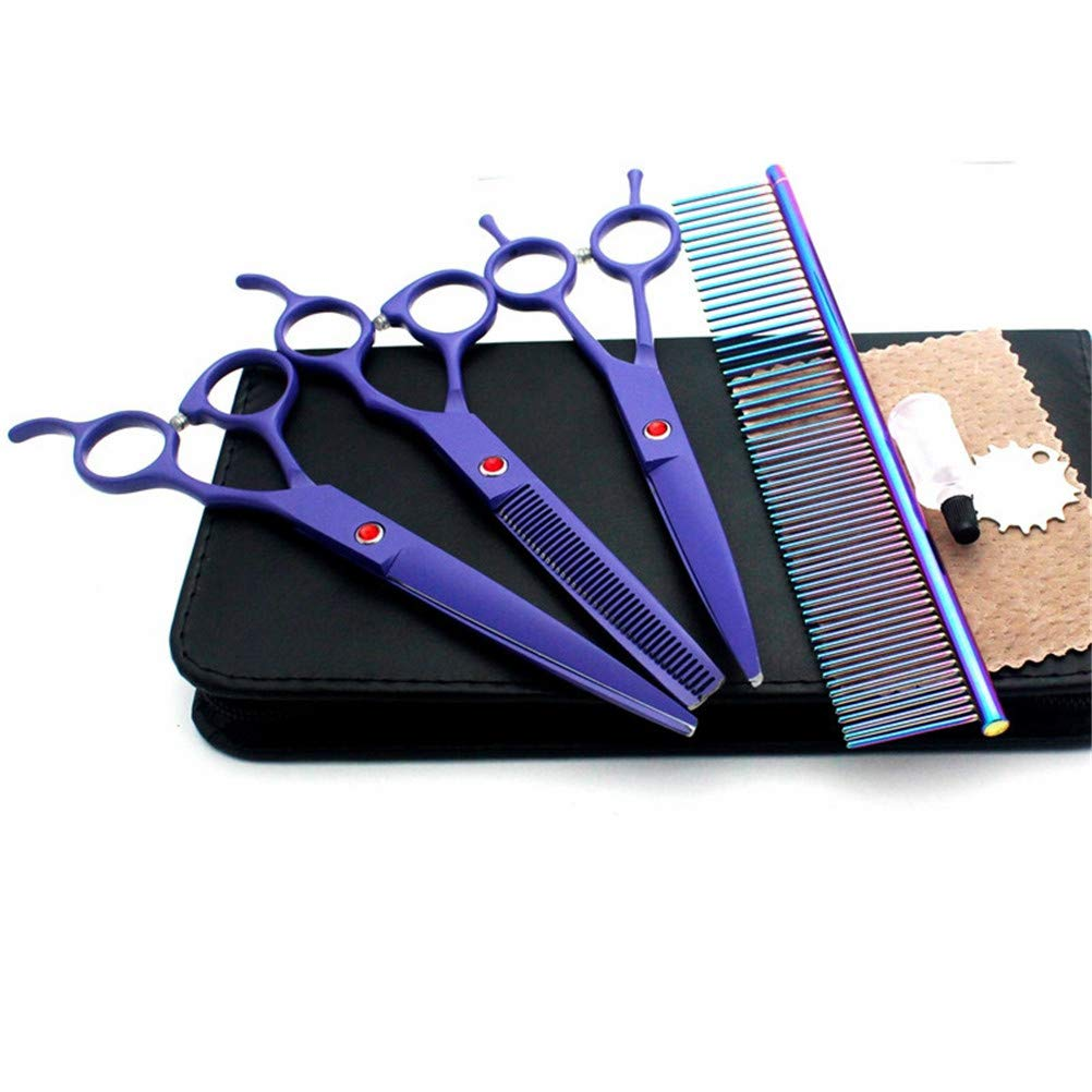 7.0-inch Pet Grooming Scissors Set, Cutting &Curved &Thinning Shears Comb