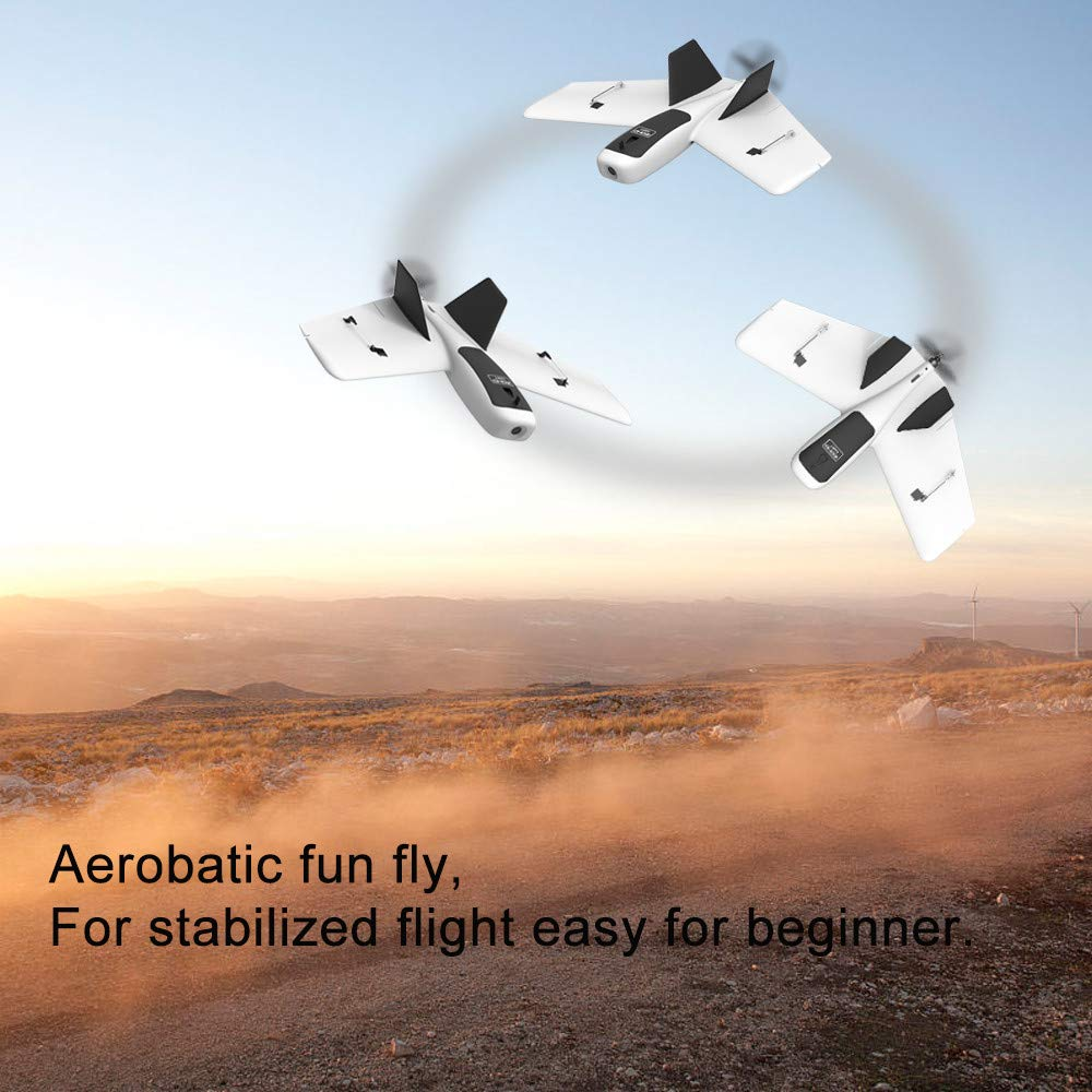 Hisoul ZOHD Dart Sweepforward Delta Wing Glider FPV EPP Racing Wing RC Airplane PNP (White) by Hisoul (Image #10)