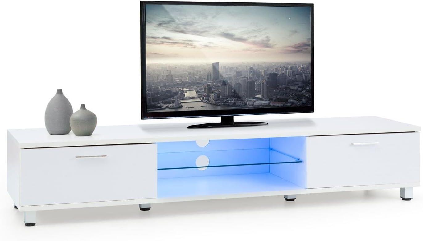 Oneconcept Keira Mueble bajo para TV Luz de Ambiente LED (Cambio ...
