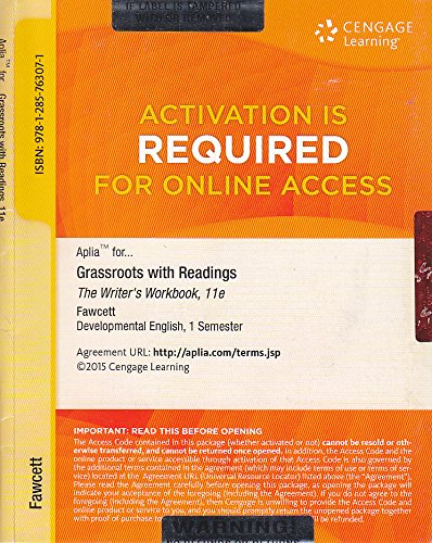 Download Grassroots with Readings The Writer's Workbook 11e Online Access Code ebook