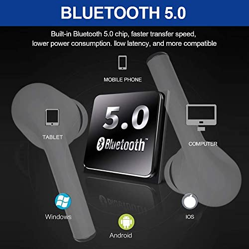 Bluetooth Headphones, IEhotti Wireless Earbuds Upgraded Version Bluetooh 5.0 True Wireless Headphones, Touch Operation, Hi-Fi Stereo, HD Mic, Workout Headphones Outdoor Portable Earphones