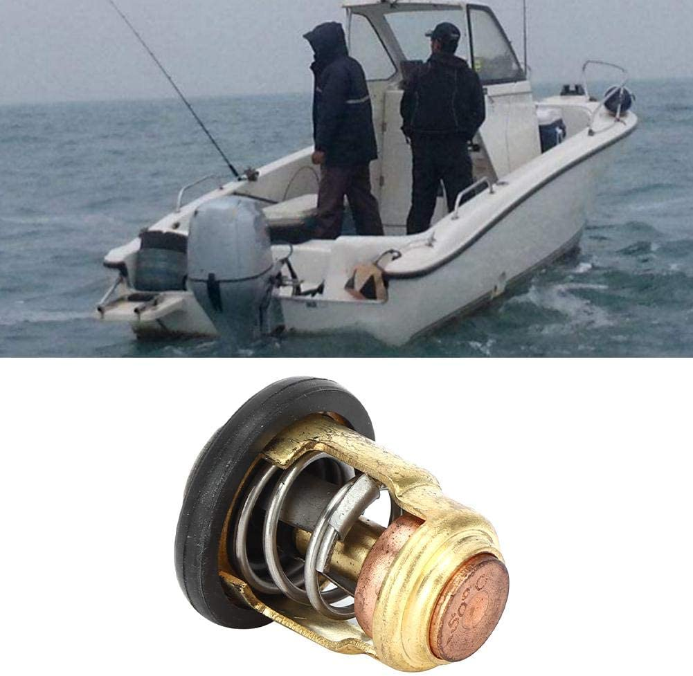 Suuonee Thermostat Boat Engine Thermostat Copper Fit for 3P-225P Horsepower Outboard 6E5-12411-30