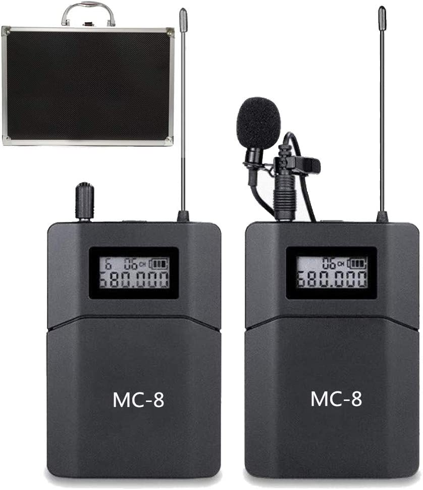 Sistema de Micrófono Inalámbrico UHF de 6 Canales Compatible con Cámaras DSLR Canon, Nikon, Sony y Videocámaras Teléfonos Utilizados para Las Noticias de Video Reunión de Entrevistas en Youtube