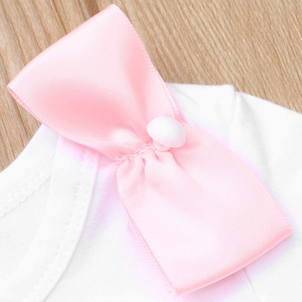 Lace Shorts Set Womola Newborn Baby Girl Short Sleeve Letter Print Bow Romper