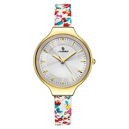 WangLx Watch Mujeres Moda Chapado en Oro Cuarzo Pulsera Relojes con Moderno Reloj, Reloj de