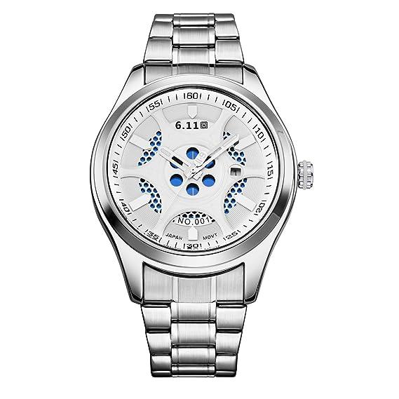 Ahorro Reloj Acero Energía Con 11 6 De Pulsera Impermeable f7Yb6gy