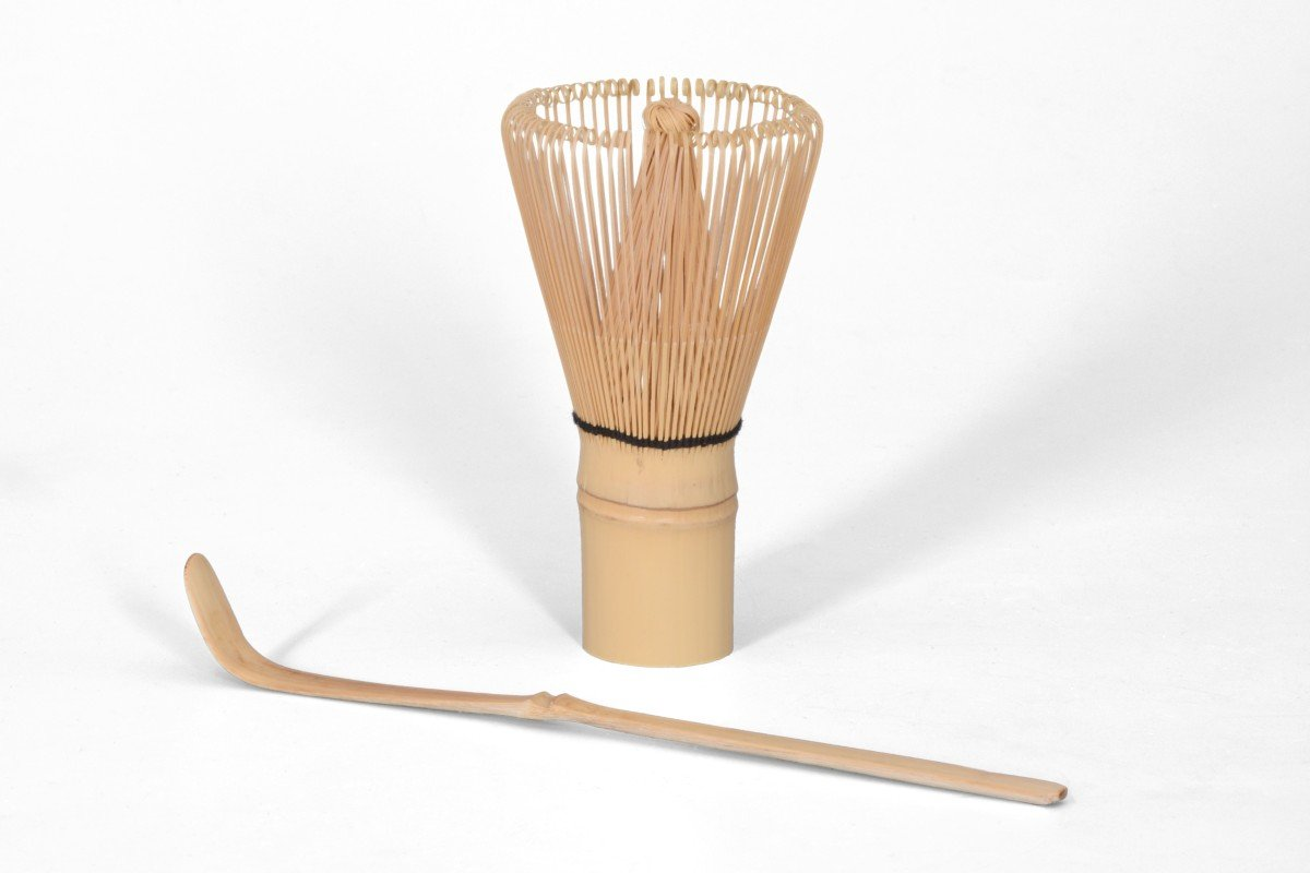 Matcha Bio Kit de démarrage 5pièces noir//rouge Malika composé de Matcha bol Original Aricola® Bambou élégant Boîte Cadeau Cuillère à matcha de et porte-fouet à matcha