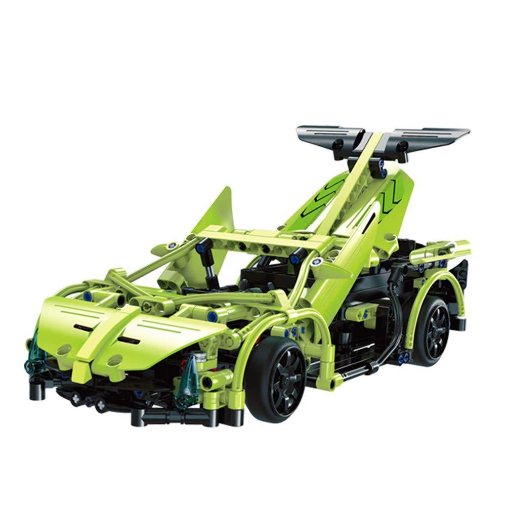 LXWM Modellbausätze Bauen Bauen Modellbausätze Sie Ihr eigenes Auto mit Fernbedienung, Elektrosatz Spielzeug, 1: 14 2,4 GHz Bausätze, Geschenkspielzeug für 12 Jahre alte Jungen, Grün fce44f