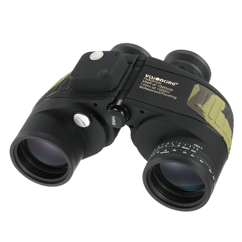 Lixada Visionking 7x50 高耐水型 マリン双眼鏡 測距用 コンパス 内蔵ナビゲーション ボート釣り/ウォータースポーツ用 B072VF3H7V