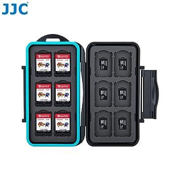 Caja protectora para tarjetas de memoria para 12 juegos de Nintendo Switch • Estuche para tarjetas de memoria • Bolsa de viaje • Estuche protector • ...