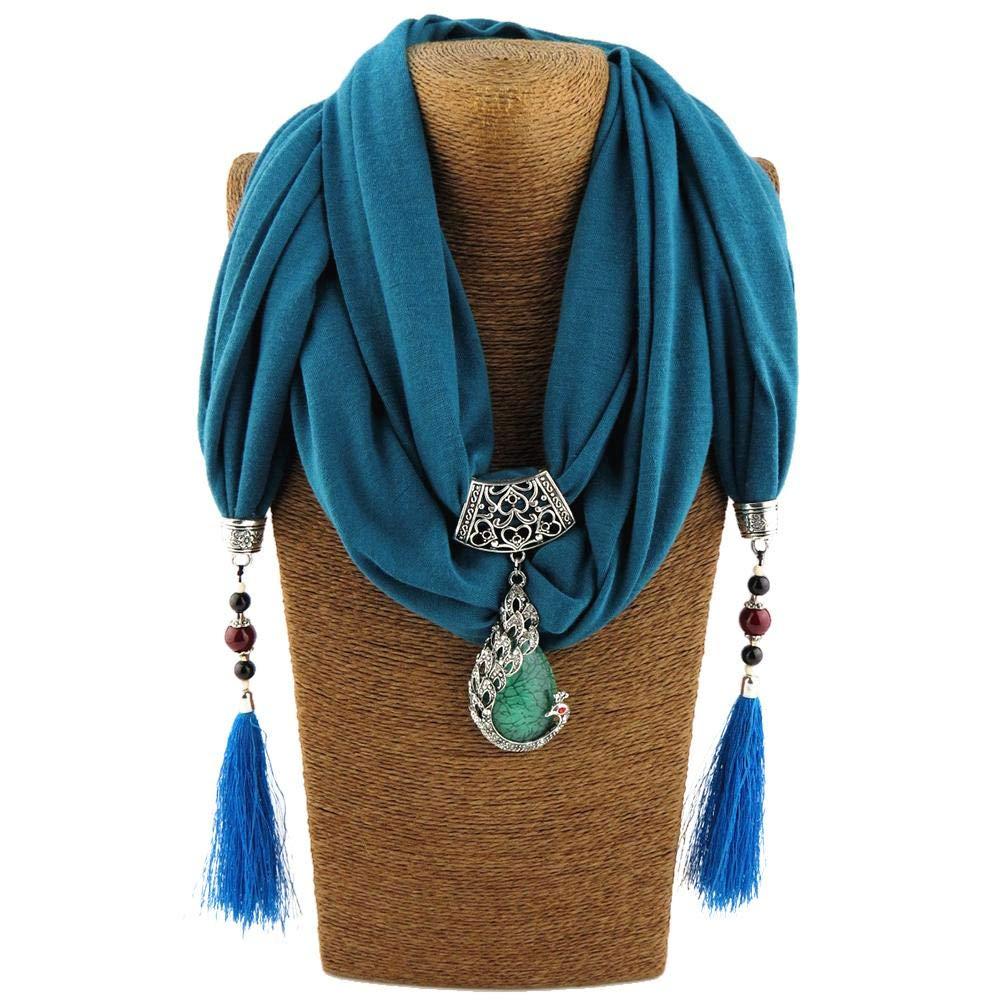 dewdropy - Collar con Bufanda con Flecos, Joya para Mujer ...