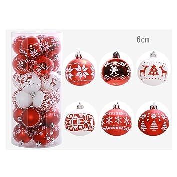 Weihnachtsdeko Rot Silber.Weihnachtskugeln Weihnachtskugeln Weihnachtsbaumkugeln Set 24 Stück