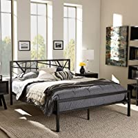 Baxton Studio Barkley Metal Platform Bed