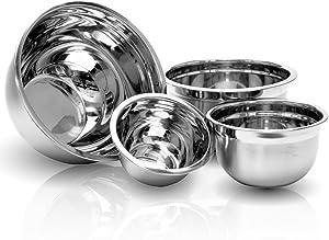 4 Pcs Stainless Steel Mixing Bowls Set - Set of 4 German Mixing Bowls Cookware Set