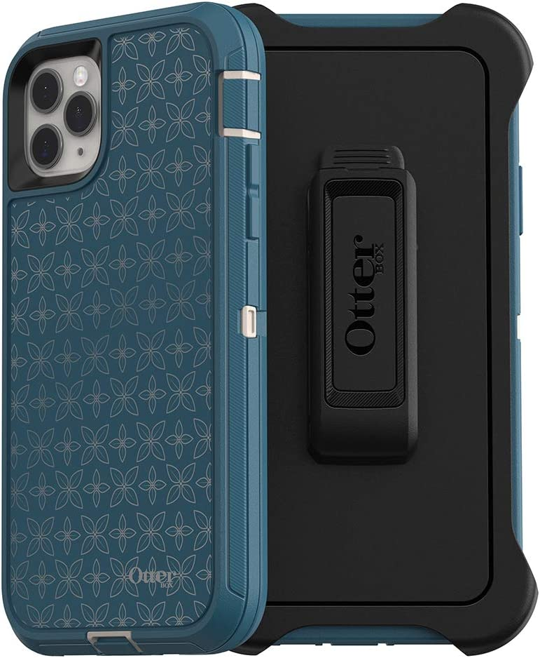 OtterBox DEFENDER SERIES SCREENLESS EDITION Case for iPhone 11 Pro Max - PETAL PUSHER (PALE BEIGE/CORSAIR/PETAL PUSHER IML)