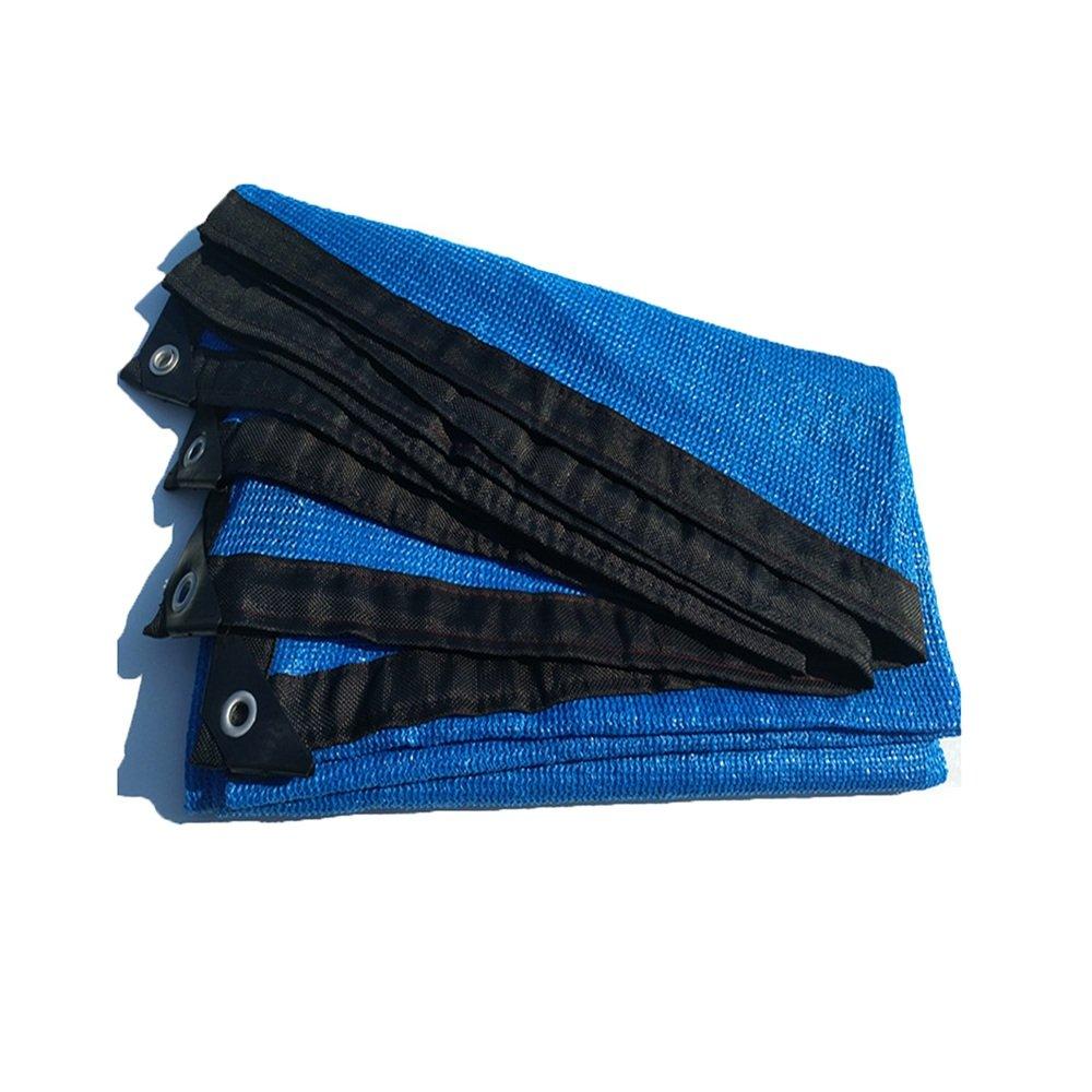 Rete ombreggiata - Paralume da Giardino in Tessuto Resistente All'umidità Resistente Ai Raggi UV 6 Pin - Rete Multifunzione (colore   blu, Dimensioni   5X5m)