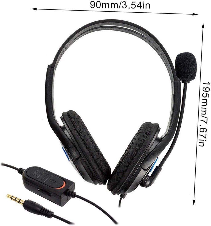 PC Kongqiabona-UK Cuffie ps4-001-A con Microfono per Cuffie da Gioco Stereo cablate PS4 Sony Play Station 4