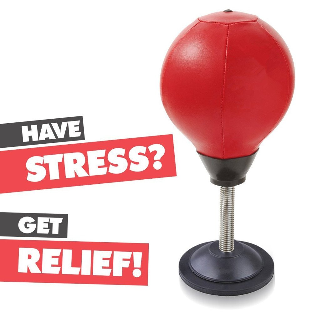 TOCC-Senlai Stress Buster Desktop Punching Ball Desktop Punching Bag Desk Punch Bag – Relieves Stresses & Good for Exercise