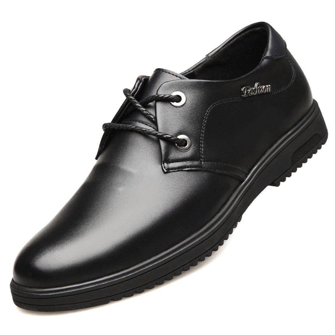 Jiyaru Men's Non-Slip Work Shoes Restaurant Kitchen Waterproof Chef Business Flats Black Asian 42 / US 8.5