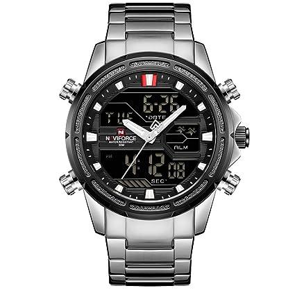 Hombres Relojes Deportivos Marca De Lujo Hombres Reloj De Cuarzo LED Reloj Digital Hombre Reloj De