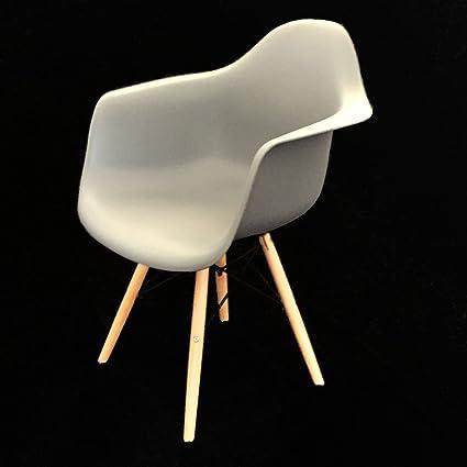 2 x diseño silla con reposabrazos, asiento de plástico para ...