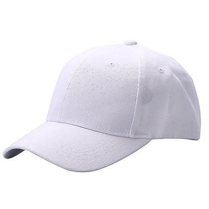 Doubleer Berretto da Baseball Tinta Unita Visiera Curva Unisex Cappello  Visiera a Cappello Regolabile Hip- 370e24efe5a1