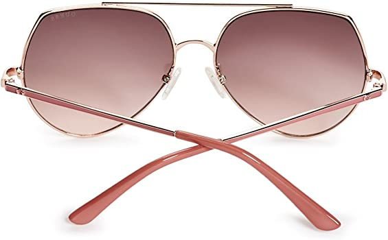 Womens Angular Aviator Sunglasses