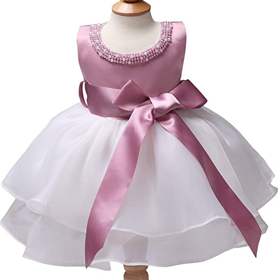 e80572ffc KIDSWEAR AIRA Stylish Barbie Pink and White Frock for Girls (6-12 ...
