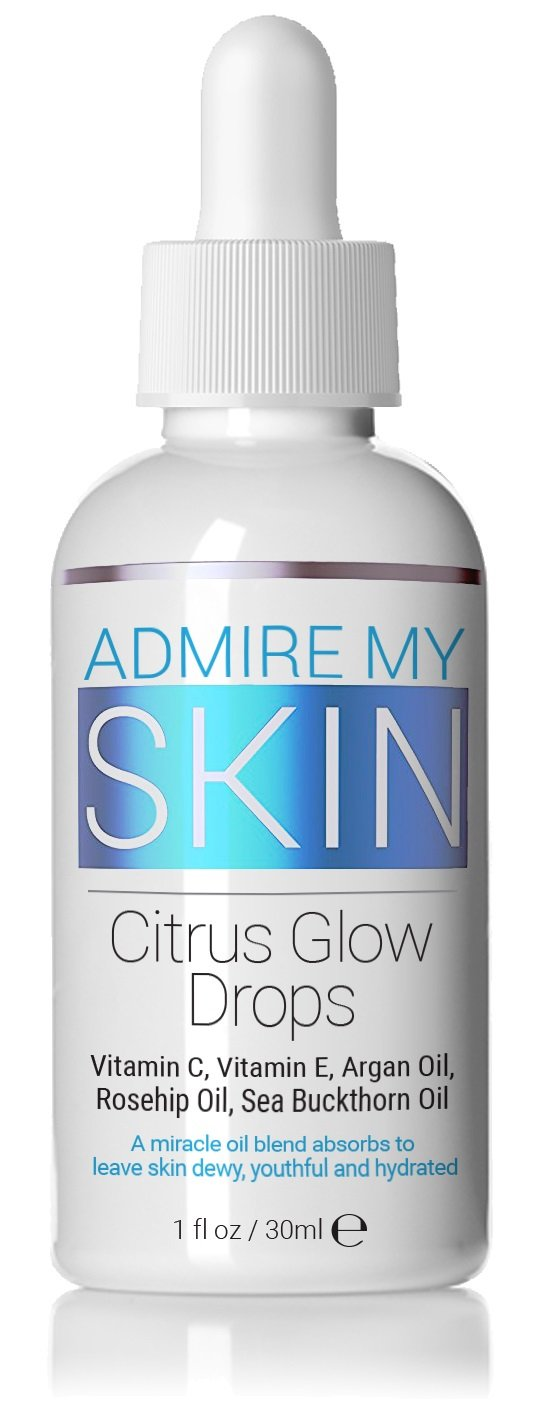 Vitamin C Oil For Glowing Skin - This Oil For Face Contains Vitamin E Oil + Argan Oil + Rosehip Oils - A True Beauty Oil That Provides You With A Dewy, Youthful Glow - Natural & Organic by Admire My Skin