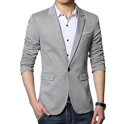 Beninos Men's Premium Casual One Button Slim Fit Blazer Suit Jacket Sport Coat at Men's Clothing store