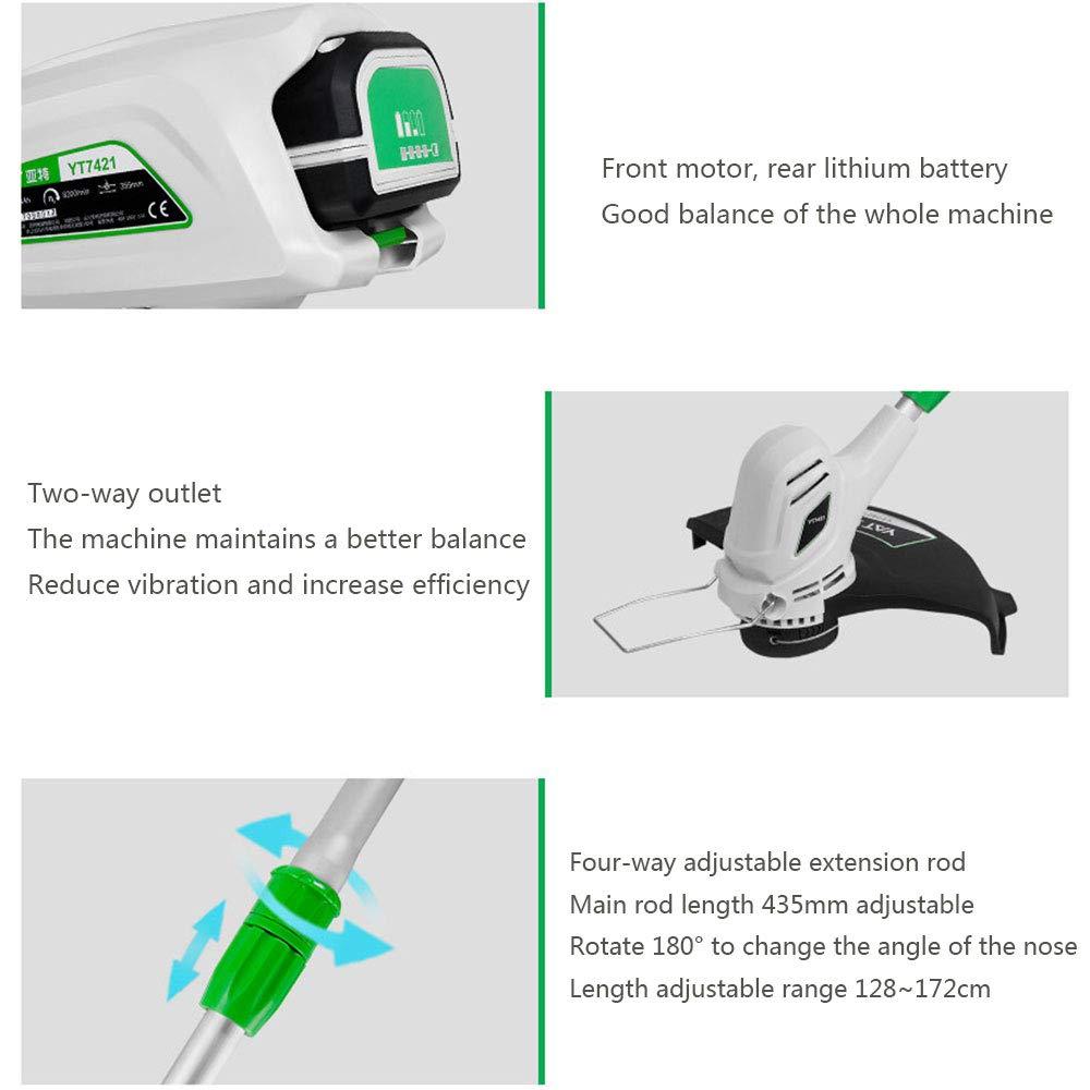 Recortador de césped inalámbrico, dos baterías de litio de 40V son ...