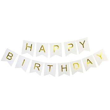 Amazon.com: WIN-MARKET - Banderines de letras blancas y ...