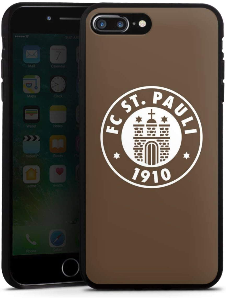 DeinDesign Silikon H/ülle kompatibel mit Apple iPhone 7 Plus Case schwarz Handyh/ülle FC St Pauli Totenkopf Offizielles Lizenzprodukt