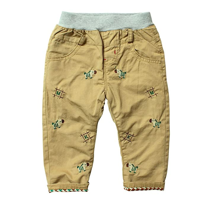 Amazon.com: Little Boys Baby, forrado de algodón bordado ...