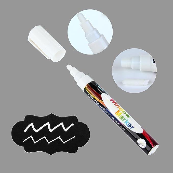 AOLVO 72/pcs Tableau Noir Autocollant Tableau Noir effa/çable Rewriteable Contact Papier /étiquettes pour bocaux Noir avec Blanc marqueur de Tableau Noir