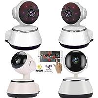 4PCS Wireless Camera HD Wifi Home Security Smart IP Cameras P2P 720P CCTV Network Webcam V380 Baby Monitor Indoors Surveillance Two-Way Audio Motion Sensor Night Vision Night Vision Nanny Pet Cam