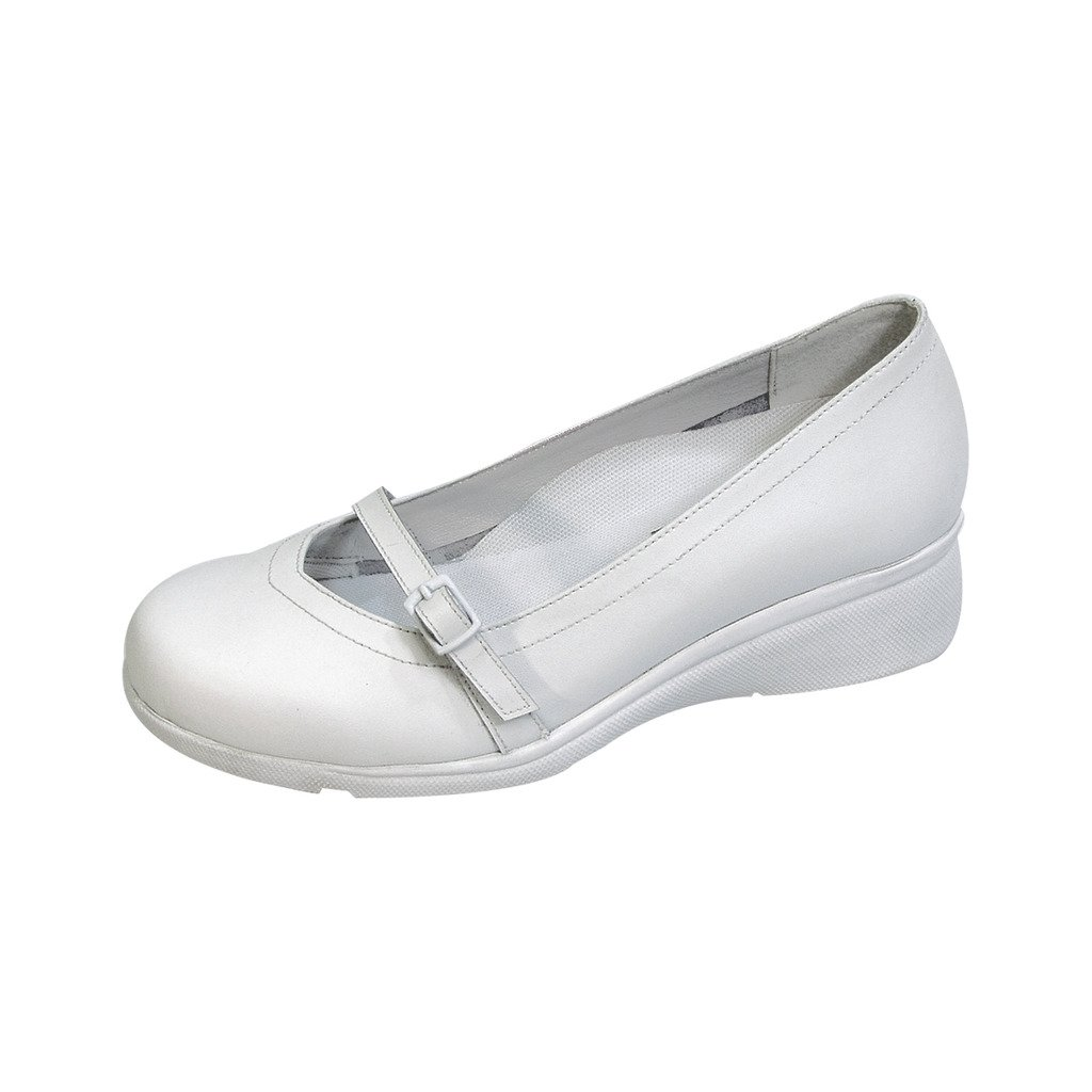 24 Hour Comfort  Dixie (1060) Women Extra Wide Width Wedges White 9