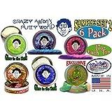 "Crazy Aaron's Thinking Putty Mini Tin Gift Set Bundle (Sample Set 2) with Krypton, Twilight, Amethyst Blush, Super Lava, Aura & Exclusive ""Lizard Lips"" Hypercolor - 6 Pack"