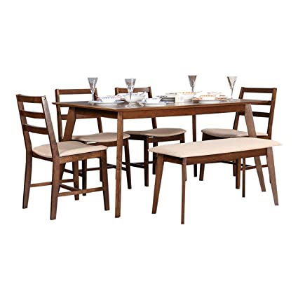 HomeTown Zina 6 Seater Dining Set With Bench Amazonin Home Kitchen