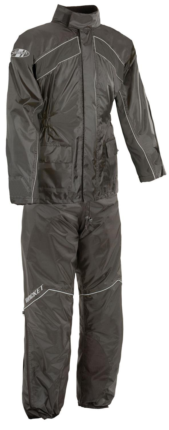 Joe Rocket RS-2 Men's Motorcycle Rain Suit (Black, Large)