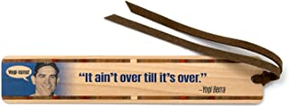 product image for Yogi Berra - Yogi-ISM It Ain't Over Till It's Over Quote Handmade Wooden Bookmark with Suede Tassel