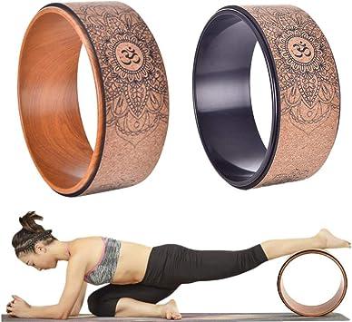 Yoga Projekt Rad f/ür Dehnen und Erh?Hte Flexibilit?T Verbessert die Yoga Haltung Lindert R/üCken Schmerzen Naliovker Yoga Rad
