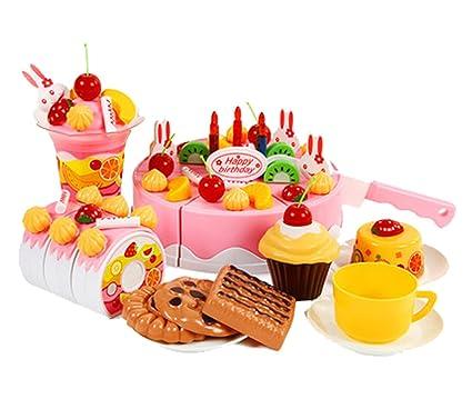 Amazon.com: Juguetes de los niños tarta de cumpleaños bebé ...