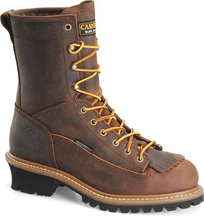 960107fc906 Amazon.com: Carolina CA9824 Steel Toe Waterproof Lace To Toe Logger ...