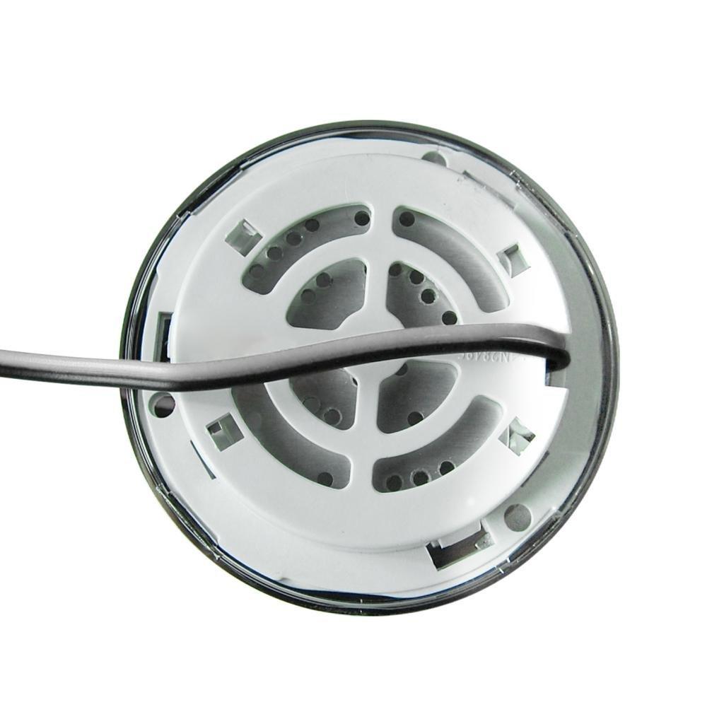 Bianco caldo 2X Dream Lighting Faretto a incasso a LED 12V 70mm 3.5W tonda LED per pensili//armadietti per Camper//Yacht//Nautica