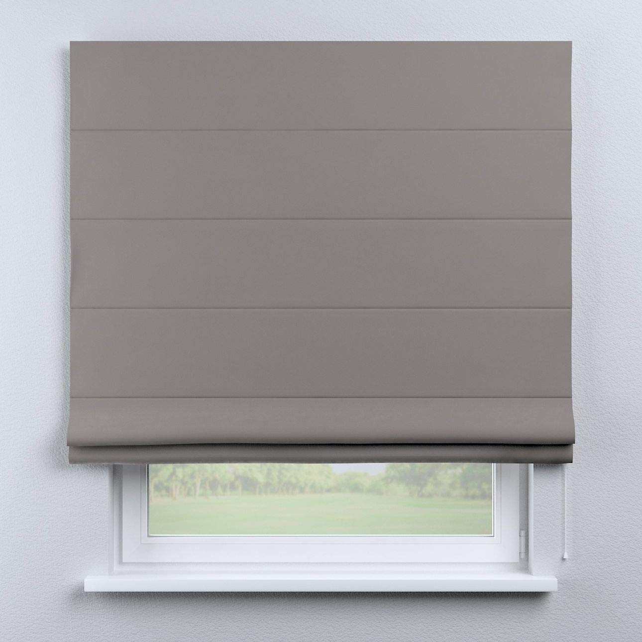 Dekoria Raffrollo Capri ohne Bohren Blickdicht Faltvorhang Raffgardine Wohnzimmer Schlafzimmer Kinderzimmer 100 × 170 cm grau Raffrollos auf Maß maßanfertigung möglich