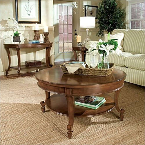- Magnussen Aidan 3 Piece Wood Accent Table Set in Cinnamon