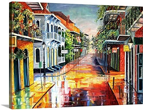 Summer Day on Royal Street Canvas Wall Art Print
