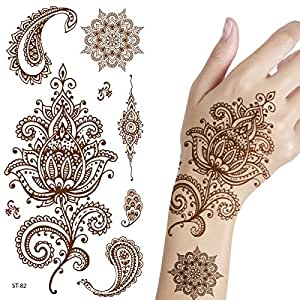 amazon com supperb temporary tattoos inspired henna beauty